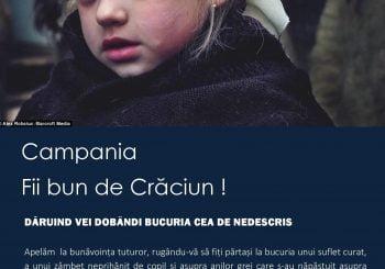 """Începutul Campaniei ,,FII BUN DE CRĂCIUN!"""""""